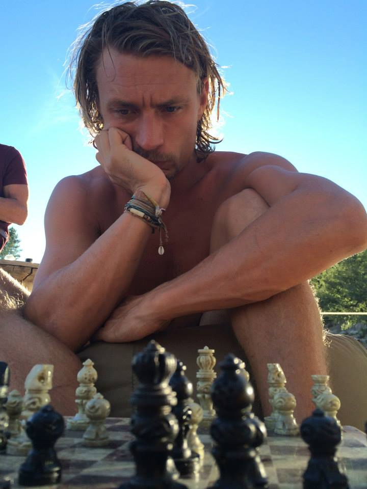 Playing Chess with Simon at Rainbow City