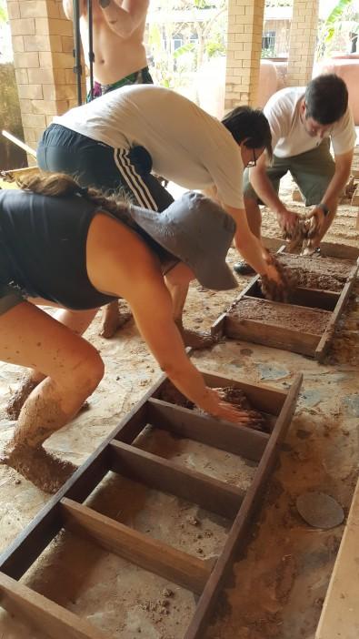 Making Adobe Bricks in Thailand