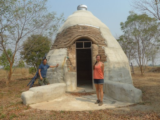 Natural Building Earth Bag house Portugal