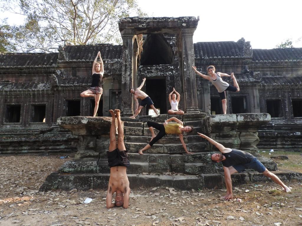 Siem Reap temple yoga