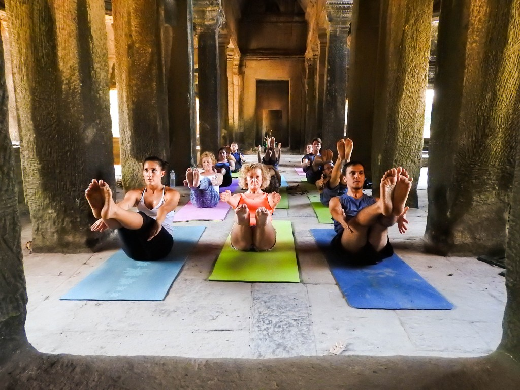 yoga in angkor temples