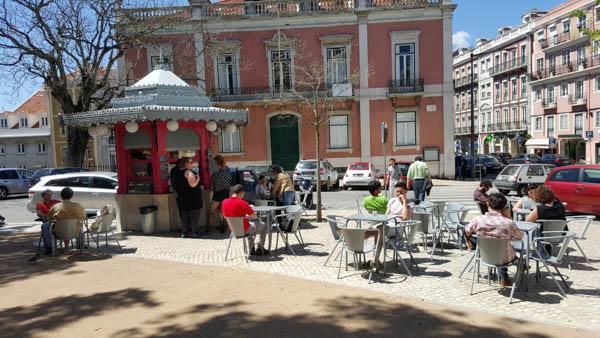 Lisbon is full of street cafes