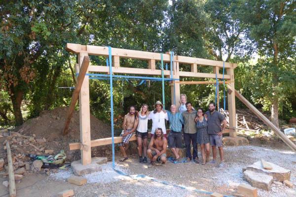 timber frame bent