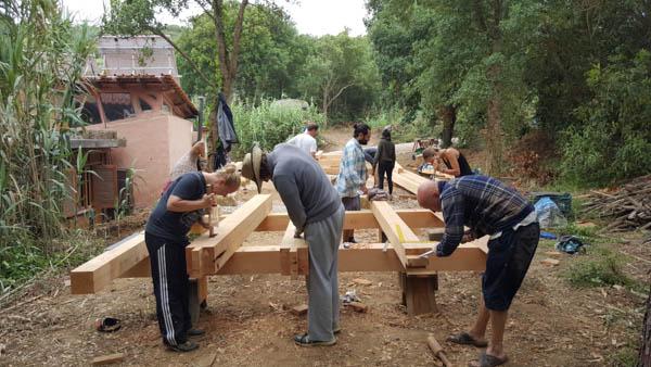 timber framing bent