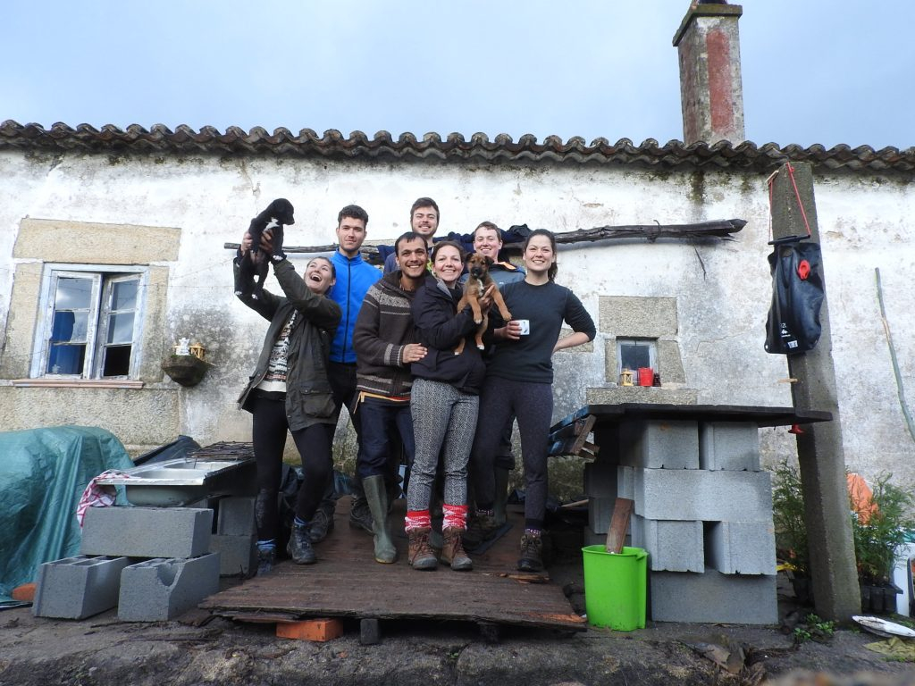First group of volunteers with high spirits even though it was cold and wet back in january!