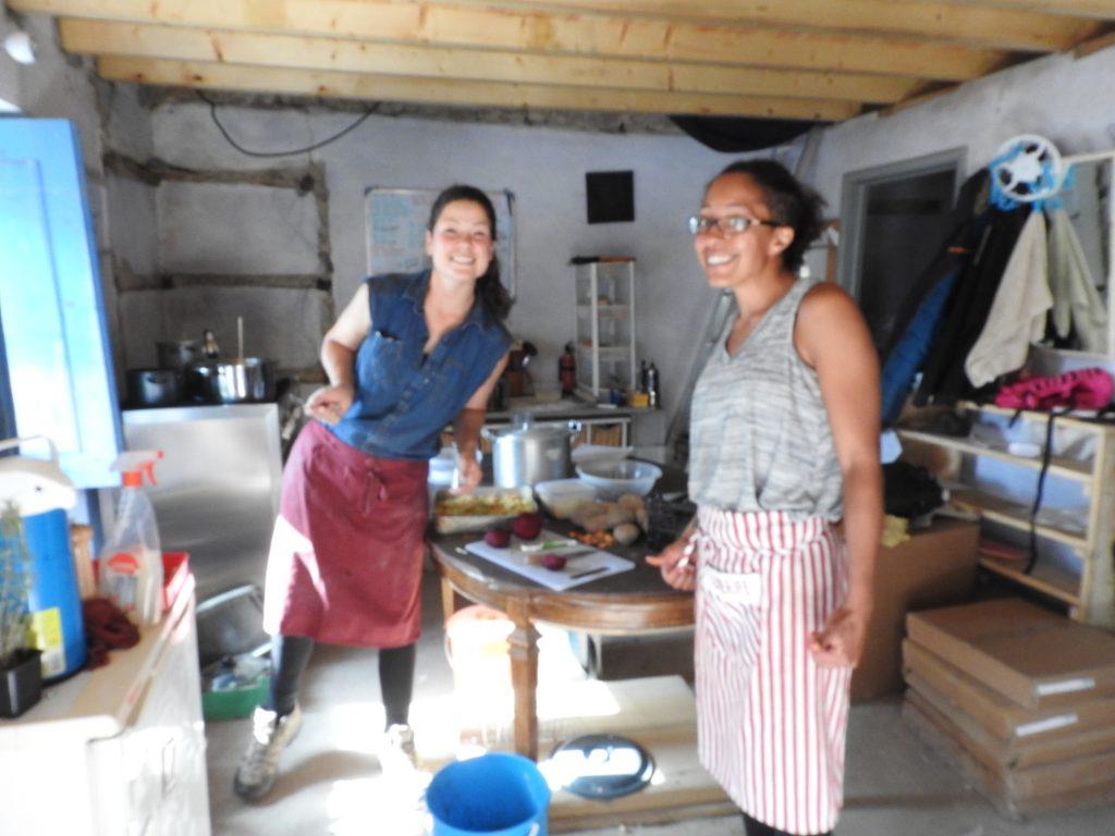 volunteer cooking