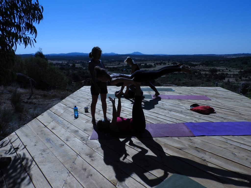 Sometimes we provide acro yoga classes
