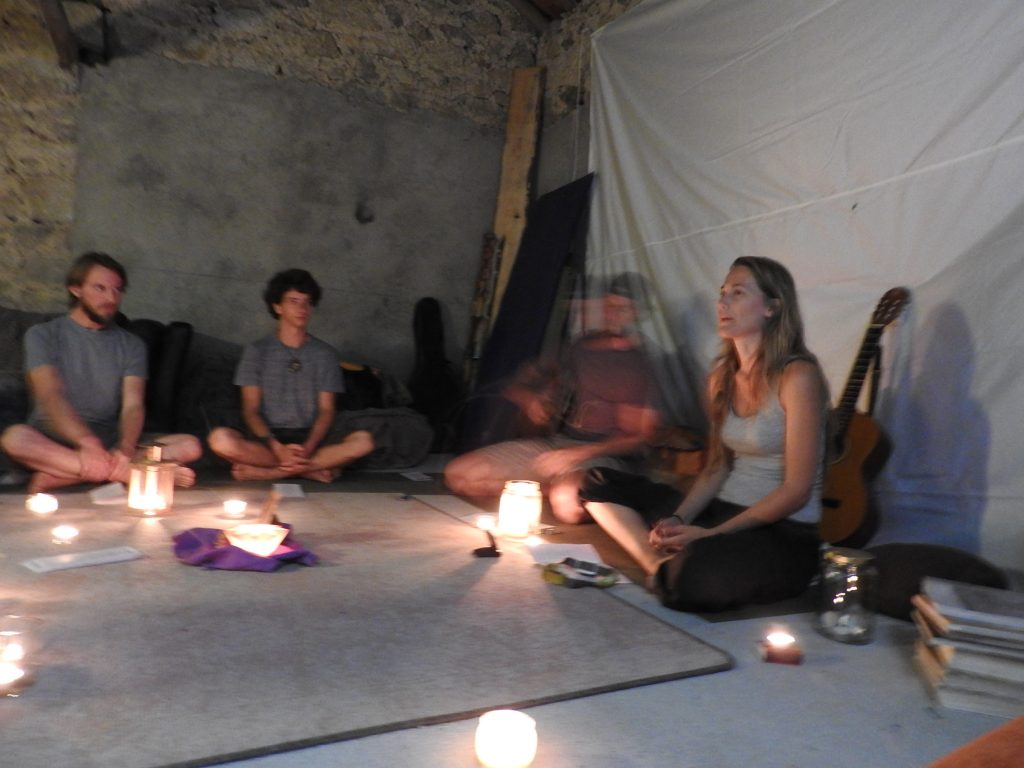 Singing circle in the chillout room