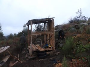On our carpentry day we learnt how to use various tools and then built a wall for the new ladies toilet
