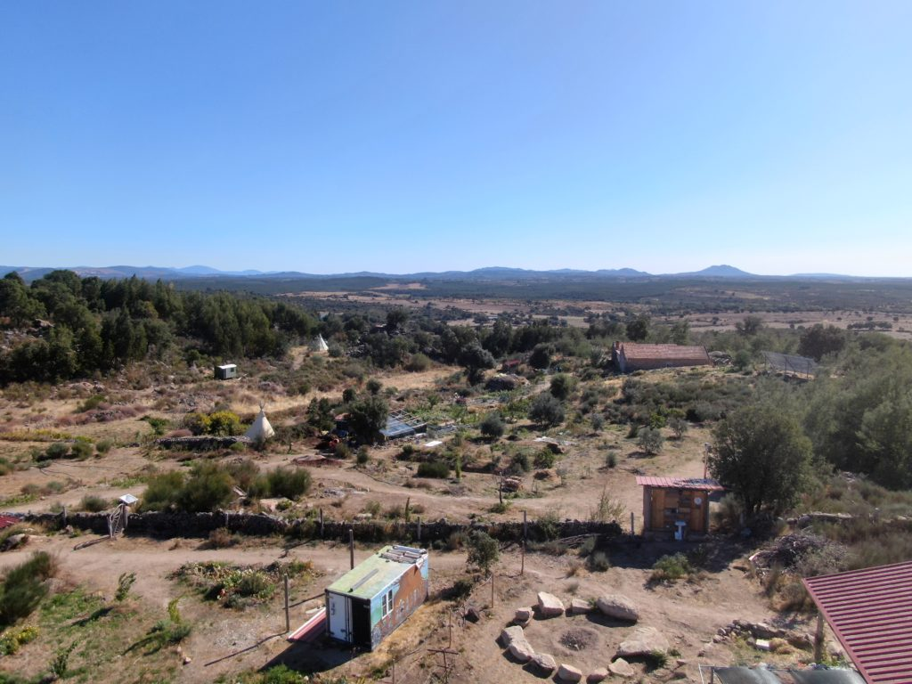 Permaculture farm from north west
